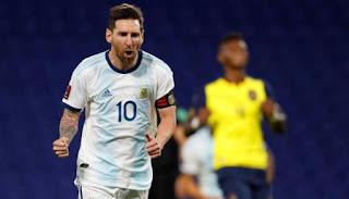 موعد مباراة الارجنتين والاكوادور في بطولة كوبا أمريكا 2021..