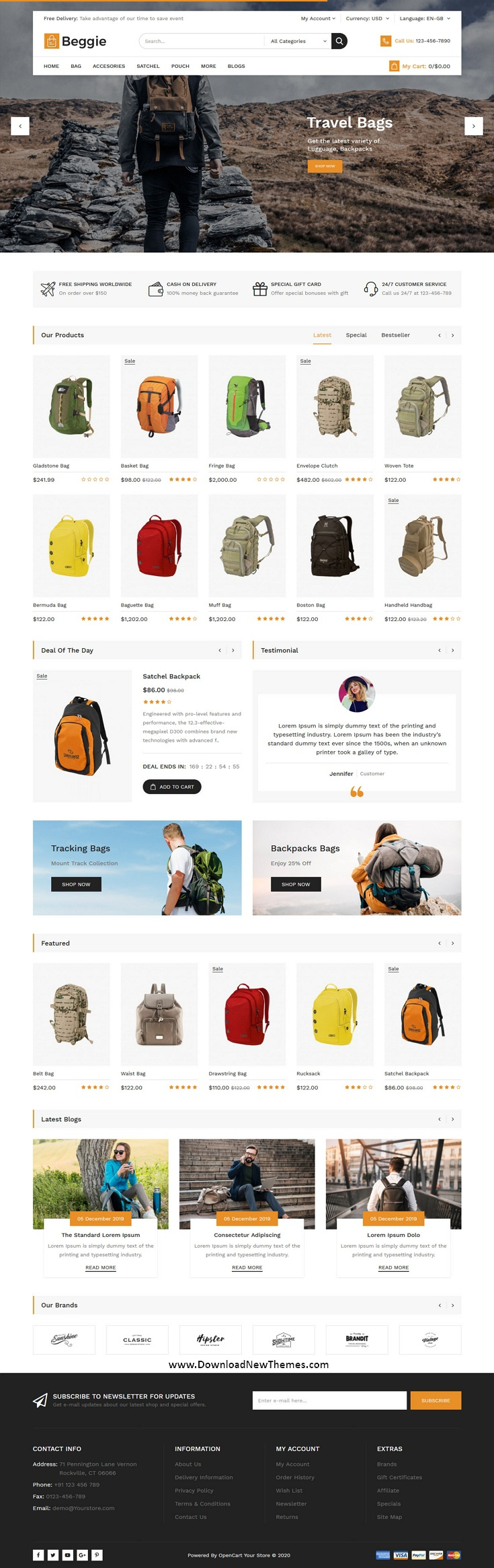 Bag Shop Responsive eCommerce Theme
