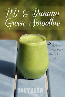 Healthy Peanut Butter Banana Green Smoothie Recipe