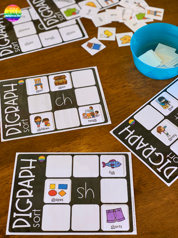 Digraph Sorting Mats | you clever monkey