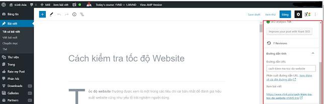 Cách cài đặt Slug trên Website WordPress