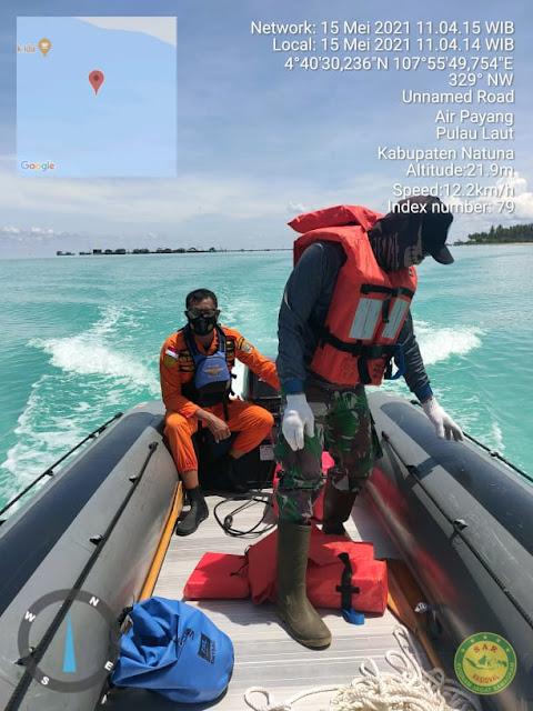 Kantor Pencarian Dan Pertolongan Natuna Belum Berhasil Menemukan  Kru Kapal Yang Terbakar di Perairan Tanjung Pala