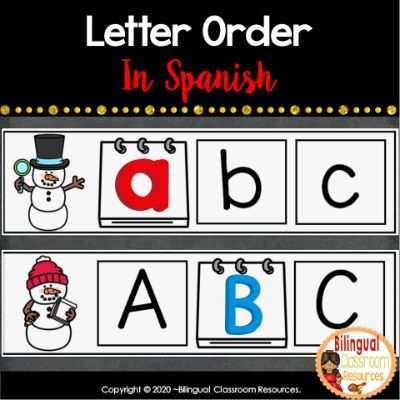Here is a fun center activity to practice putting letters in the correct order. Students first look at a sequence of letters, then write the letter that comes next (or use magnetic letters).