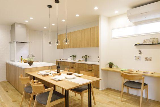 ママコーナーと呼ばれるキッチン周りのちょっとしたワークスペースの参考例,examples of a small workspace around the kitchen called Mamy's Corner,厨房周围被称为妈妈工作圈的小小工作区的参考图像
