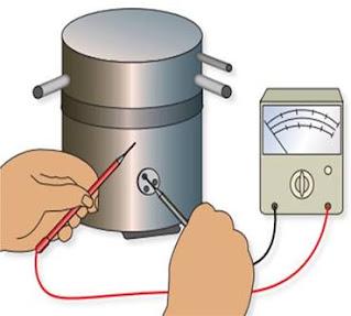 فحص تماس الأرضي لمحرك الضاغط