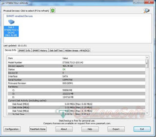 DiskCheckup is hard drive complete information checker, self monitoring analysis and reporting Software. Get device info