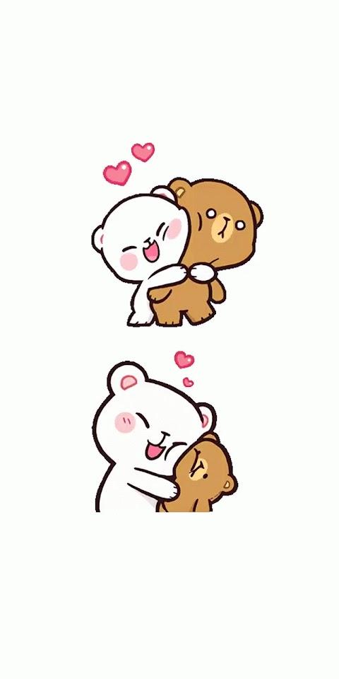 Ảnh Nền Đẹp Điện Thoại Hai Chú Gấu Cute