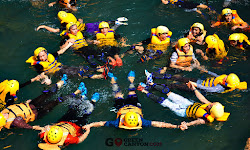serunya body rafting di green canyon
