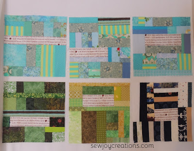 slab blocks scrap piecing modern patchwork