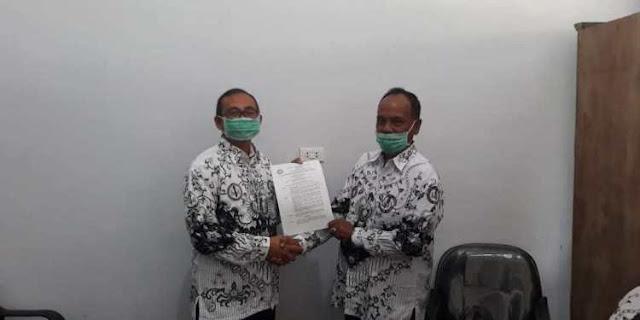 Kacabdin Kota Sabang Menerima Kujungan Pengurus PGRI