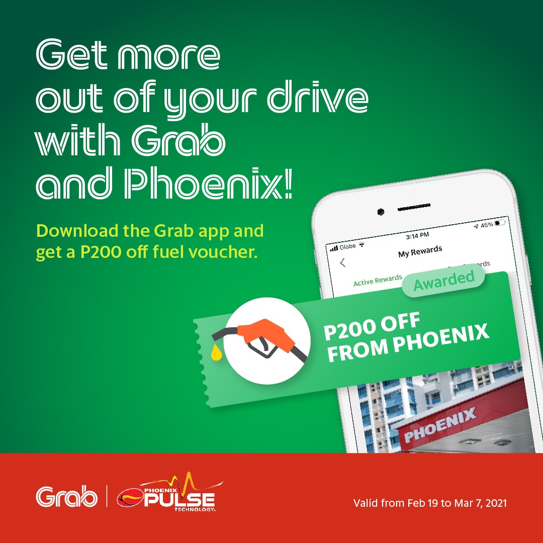 New Grab Users in Davao can enjoy P200 Free Fuel Voucher from Phoenix Petroleum