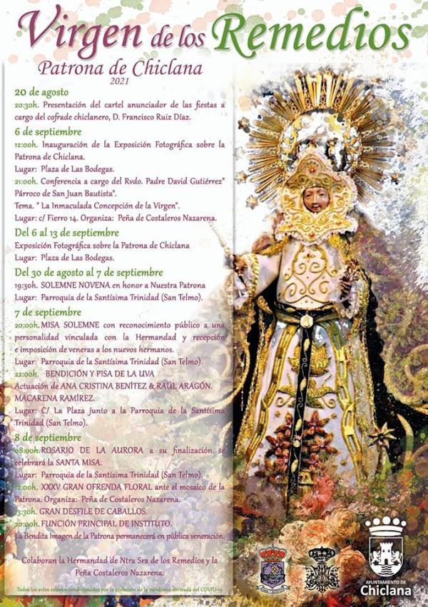 Programa de Actos en honor a la Virgen de los Remedios 2021, Patrona de Chiclana