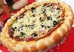 طريقه كيفية عمل تحضير البيتزا المزخرفة بالفلفل الأخضر والزيتون pizza italia