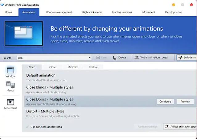 Menambahkan Animasi Buka Tutup Aplikasi di Windows 10