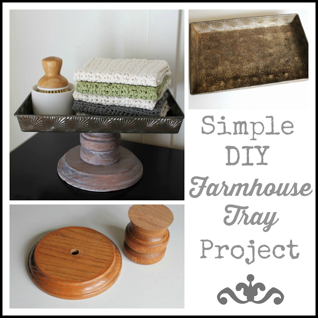 Simple DIY Farmhouse Tray Project From Itsy Bits And Pieces Blog