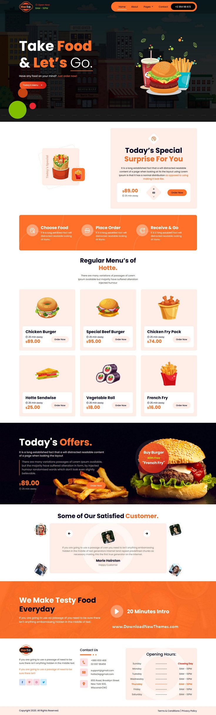 Take Away Food HTML5 Template