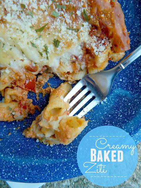 creamy baked ziti (sweetandsavoryfood.com)