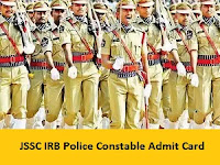 JSSC IRB Police Constable Admit Card