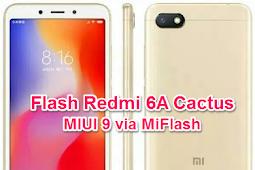 Cara Flash Xiaomi Redmi 6a Cactus MIUI 9 via MiFlash