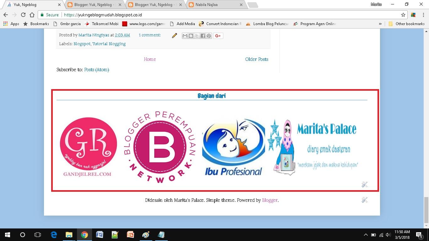 Memasang Banyak Banner dalam Satu Widget HTML horizontal list footer design