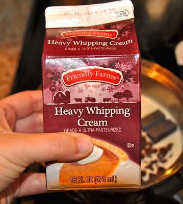 Blonde buckeye bars heavy whipping cream