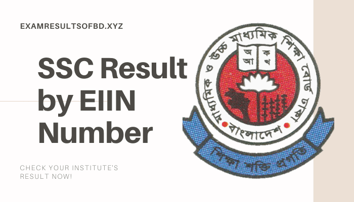 Institute Wise SSC Result 2020 by EIIN Number, SSC Result 2020 by EIIN Number, Institute Wise SSC Result 2020