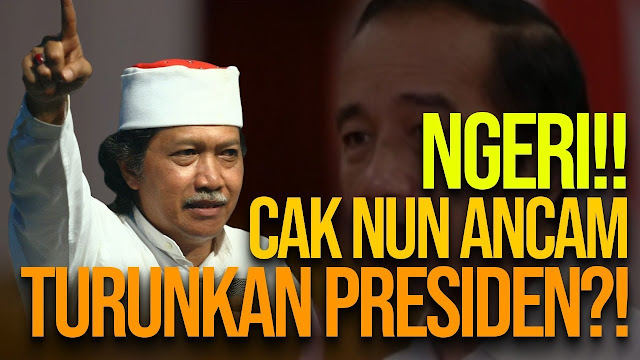Cak Nun Ancam Akan Turunkan Jokowi: Saya yang Bikin Pak Harto Lengser