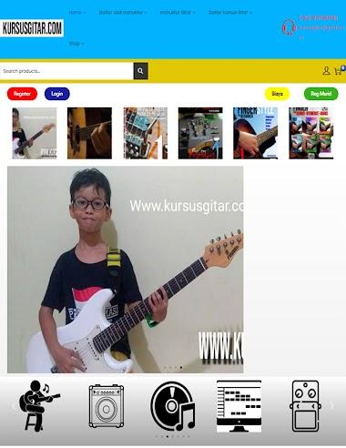 Pembuatan website untuk KURSUS GITAR