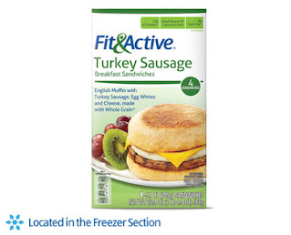 Stock image of Fit & Active Turkey Sausage Frozen Sandwiches