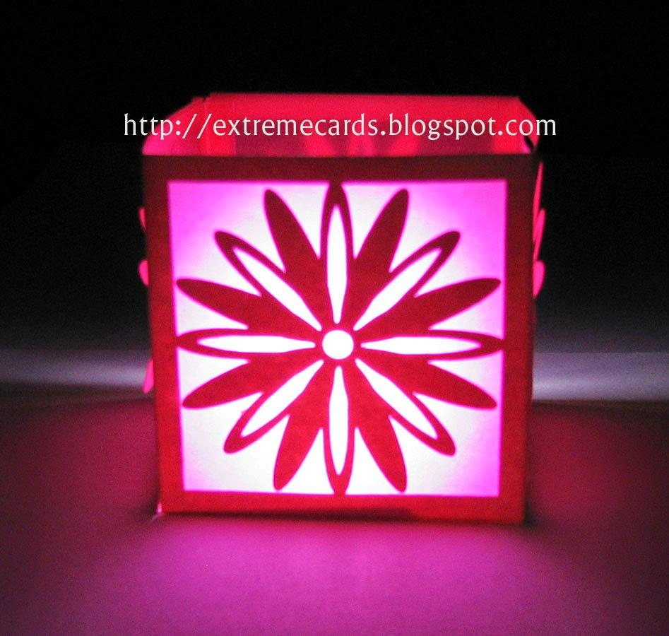 tealight lit lantern