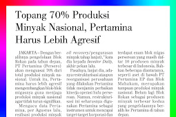 Support 70% of National Oil Production, Pertamina Must Be More Aggressive