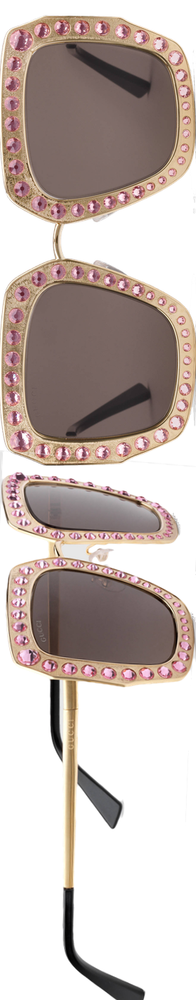 Gucci Oversize Square Metal Sunglasses