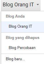 daftar blog yang dimiliki