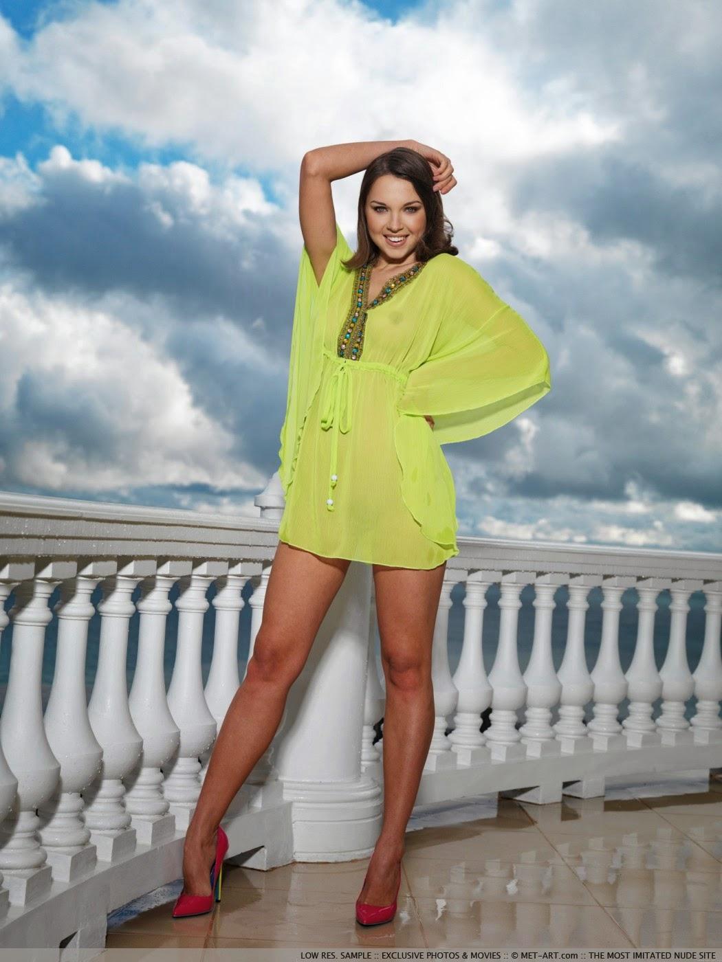 Anita E, brunettes, wet, models, women, natural lighting