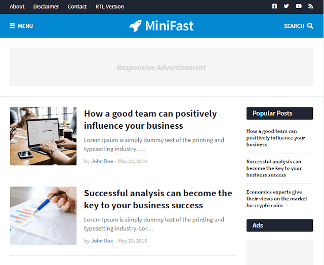 Chia sẻ MiniFast Responsive Blogger Template