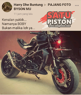 Modifikasi Yamaha Byson Street Fighter Buntung