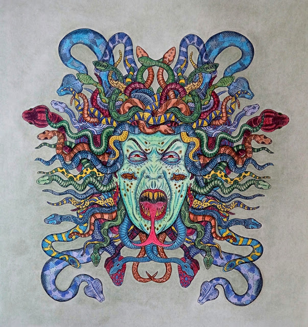 The Beauty of Horror coloring book, Medusa Gorgon