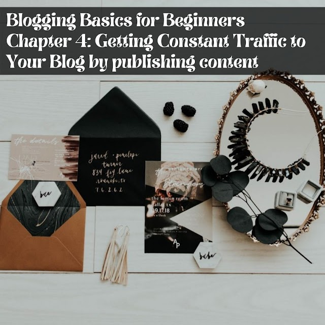 Blogging Basics for Beginners  Chapter 4: Getting Constant Traffic to Your Blog by publishing content