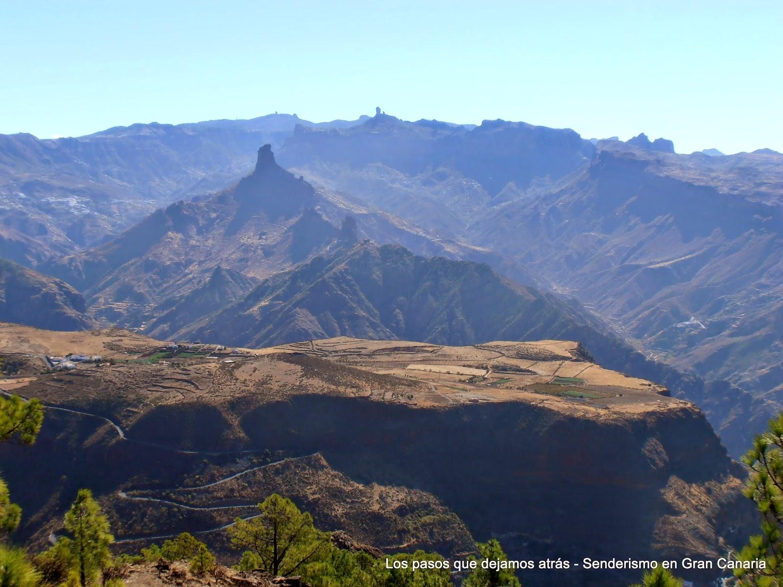 Mesa de Acusa, Roque Bentayga y Roque Nublo