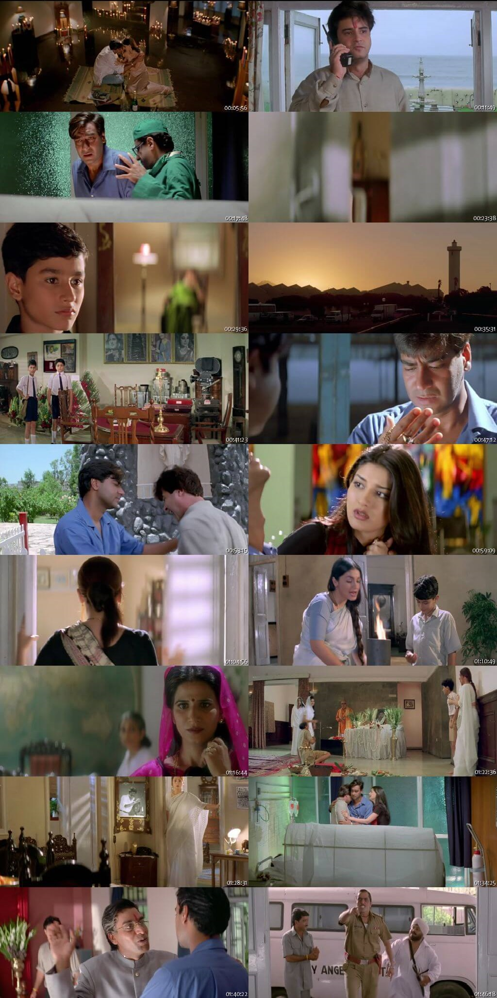 Screen Shot Of Zakhm 1998 300MB HDRip 480P Full Hindi Movie Watch Online Free Download