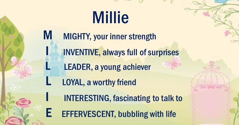 37++ The name millie meaning information