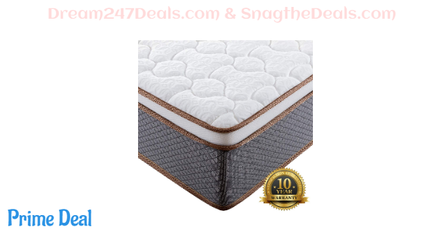 10-Inch Hybrid Spring Mattress, Firm Bed in a Box 43% OFF
