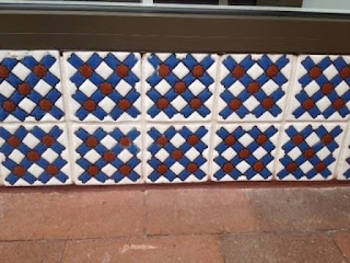 "Here's another installation of 6"" x 6"" tiles that beg for attention!"