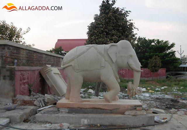 A Small Elephant Statue work done by Sri Sarada Shilpa Kala Mandiram