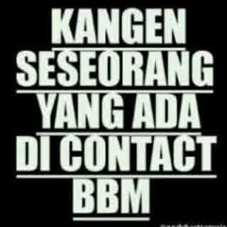 dp bbm kangen bbm contact