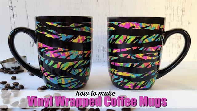 silhouette america blog, silhouette 101, adhesive vinyl, coffee mug, wrapped mug