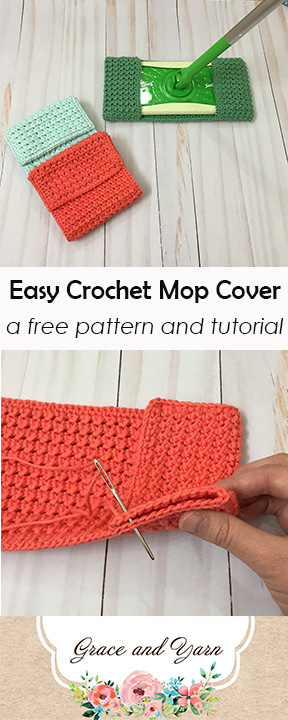 Easy Crochet Mop Cover A Free Pattern And Tutorial Grace And Yarn