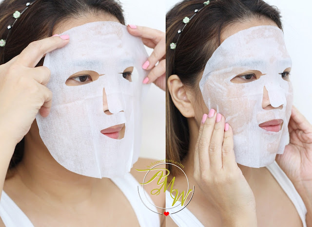 a photo of askmewhats wearing Lululun Face Masks review.  Lululun Precious Anti Aging Care,  Lululun Blue Moisture-Enrich Pack , Lululun Classic Moisturizing Face Mask review