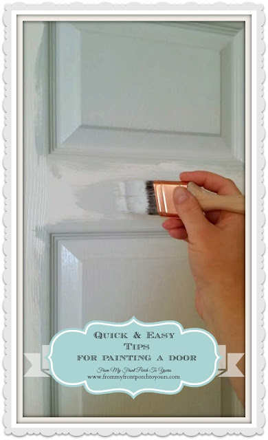 Step by step tutorial on how to paint a door -From My Front Porch To Yours.