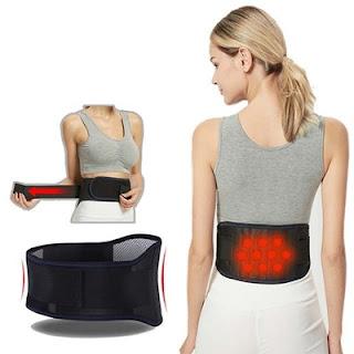 Sabuk Korset Alat Terapi Magnetik Belt Penghangat Pinggang Punggung